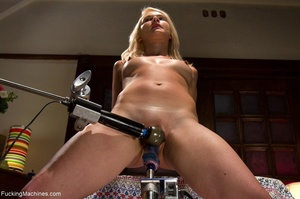 Tied up blonde slut gets used with many  - XXX Dessert - Picture 7