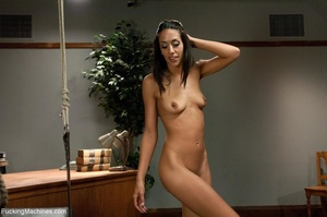 Slender brunette with small titties gett - XXX Dessert - Picture 1