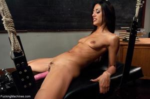 Slender brunette with small titties gett - XXX Dessert - Picture 6