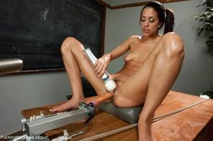 Slender brunette with small titties gett - XXX Dessert - Picture 13