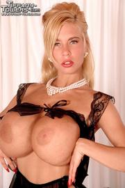 captivating blonde sexy black