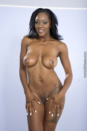Busty ebony shows huge ass and sweet pussy, then deep anal rams a white guy with strap on. - XXXonXXX - Pic 3