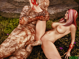 Pink-haired boobed fairy fucking with disgusting - Picture 5