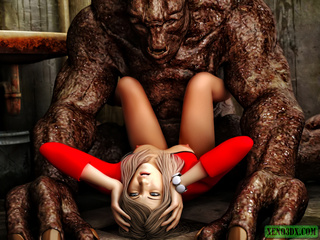 Dude jerking off while spying awful monster banging - Picture 1
