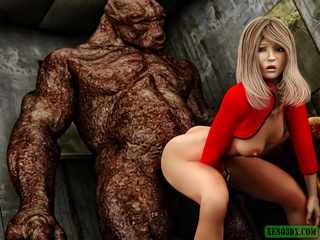 Dude jerking off while spying awful monster banging - Picture 2