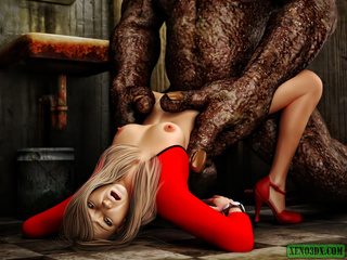 Dude jerking off while spying awful monster banging - Picture 3