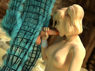 Pigtailed blondie gets her sweet pussy licked by blue - Picture 2