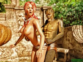 Lizard-like alien fucking busty fairy - Picture 4