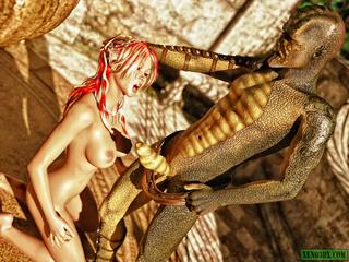 Lizard-like alien fucking busty fairy - Picture 5