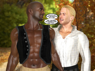Sexy lumberjack and his black buddy meet boobed - Picture 3