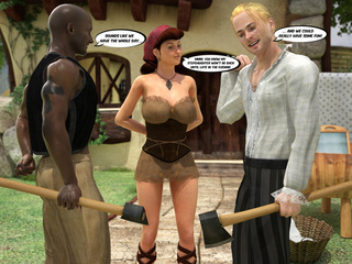 Sexy lumberjack and his black buddy meet boobed - Picture 4