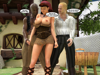 Sexy lumberjack and his black buddy meet boobed - Picture 5