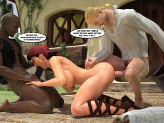 Slutty Little Red Riding Hood gets plugged with black - Picture 3
