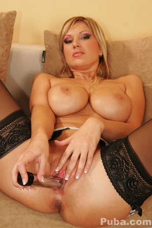 Smoky busty blonde red and black lingerie strips to use dildos in ass and pussy - XXXonXXX - Pic 12