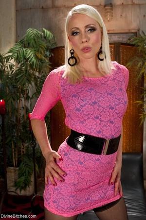 Hot MILF Mistress in a sexy pink dress e - XXX Dessert - Picture 3