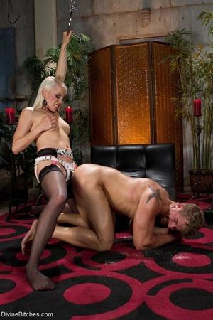 Hot MILF Mistress in a sexy pink dress e - XXX Dessert - Picture 11