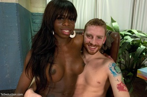 Dark-skinned t-girl is all about dominat - XXX Dessert - Picture 17
