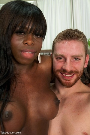 Dark-skinned t-girl is all about dominat - XXX Dessert - Picture 18
