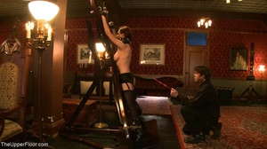 Demure, attractive slave is attached to  - XXX Dessert - Picture 8
