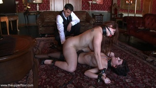 bondage, nipples, punishment, rough sex