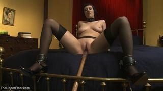 alluring, brunette, rough sex, slave