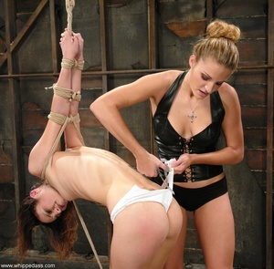 Slave in bondage sucks a strap-on and gets ass fucked - XXXonXXX - Pic 3