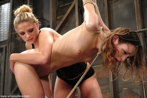 Slave in bondage sucks a strap-on and gets ass fucked - XXXonXXX - Pic 5