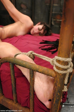 Slave in bondage sucks a strap-on and gets ass fucked - XXXonXXX - Pic 18