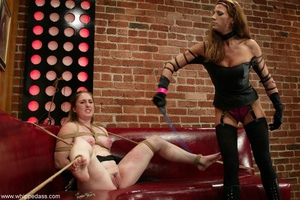 Gagged young slut gets dominated by a super hot mistress - XXXonXXX - Pic 5