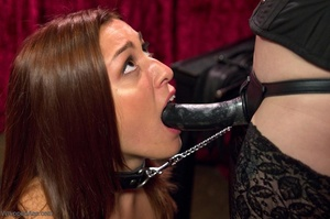 Long haired bitch gets drilled with a black strap-on - XXXonXXX - Pic 14