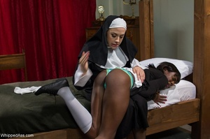 Black lady with small tits gets punished by a nun - XXXonXXX - Pic 10