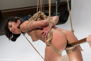 Curvy mistress in lingerie plays with her raven haired slave - XXXonXXX - Pic 16