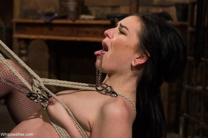 Dark haired darling gets gagged and tied up by her mistress - XXXonXXX - Pic 7