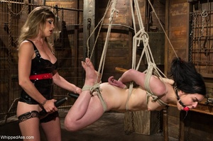 Dark haired darling gets gagged and tied up by her mistress - XXXonXXX - Pic 13