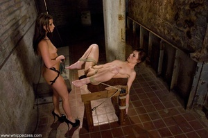 Long haired brunette fucks her partner with a strap-on - XXXonXXX - Pic 15