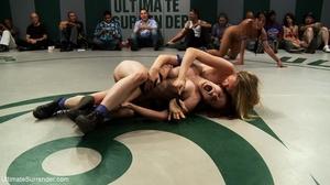 Super hot brunettes vs fantastic wrestling blonde sluts - XXXonXXX - Pic 8