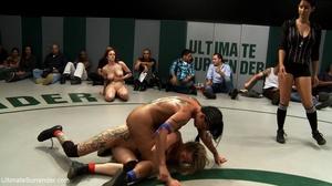 Super hot brunettes vs fantastic wrestling blonde sluts - XXXonXXX - Pic 12