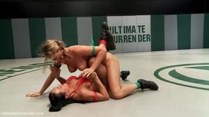 Blonde cutie fights a tattooed brunette in the ring - XXXonXXX - Pic 3