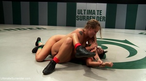Blonde cutie fights a tattooed brunette in the ring - XXXonXXX - Pic 6