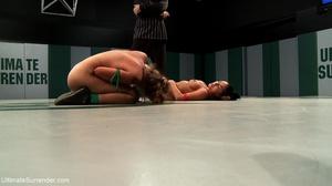 Blonde cutie fights a tattooed brunette in the ring - XXXonXXX - Pic 11