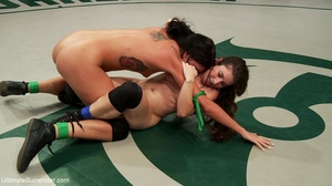 Horny lesbian sluts are into some freaky wrestling - XXXonXXX - Pic 12