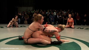 Strong lesbian sluts are ready for hot wrestling right now - XXXonXXX - Pic 4