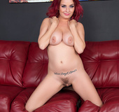 Dirty redhead slut loves being hammered by a huge fat cock