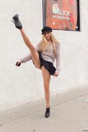 blonde teen model black