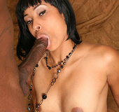 Tattooed ebony cutie with a perfect ass gets…