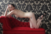 ginger amateur poses for