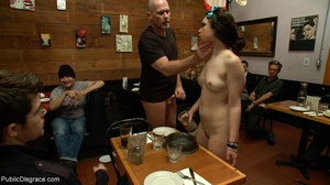Slut is spanked and stripped in a diner, - XXX Dessert - Picture 8