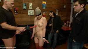 Slut is spanked and stripped in a diner, - XXX Dessert - Picture 12