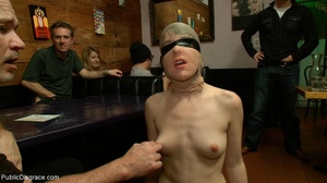 Slut is spanked and stripped in a diner, - XXX Dessert - Picture 16