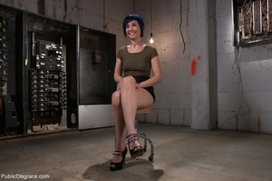 Blue-haired whore is choked, fucked and  - XXX Dessert - Picture 3